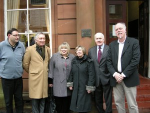With John Reid MP and Karen Whitefield MSP in Airdrie, Scotland