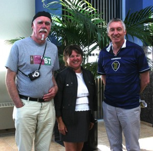 With Mayor Linda Bruce in Airdrie, Alberta